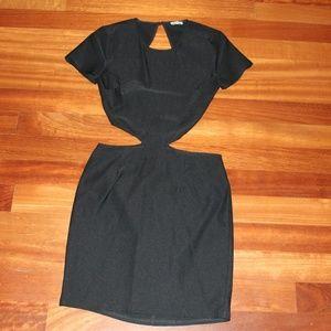 Tobi, Black tight cut out dress, Women's medium